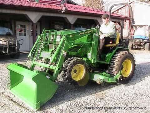 John Deere 4110 HST Tractor 410 Loader 4WD on Ebay - YouTube