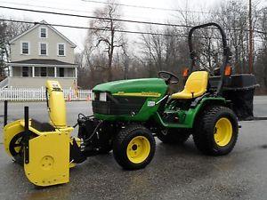 John-Deere-4110-4wd-Diesel-Tractor-Snow-Blower-Mower-Power-Pack-MCS-55 ...