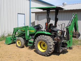 John Deere 4310 Compact Tractor & Loader & Backhoe - Diesel 4x4 - Pwr ...