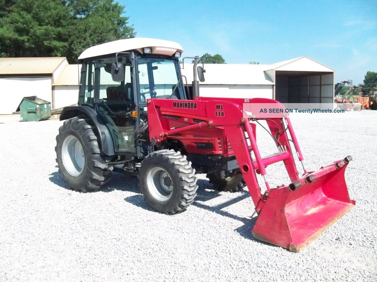 2008 Mahindra 4510 Cab Tractor W/ Mahindra Front Loader - Farm Tractor ...