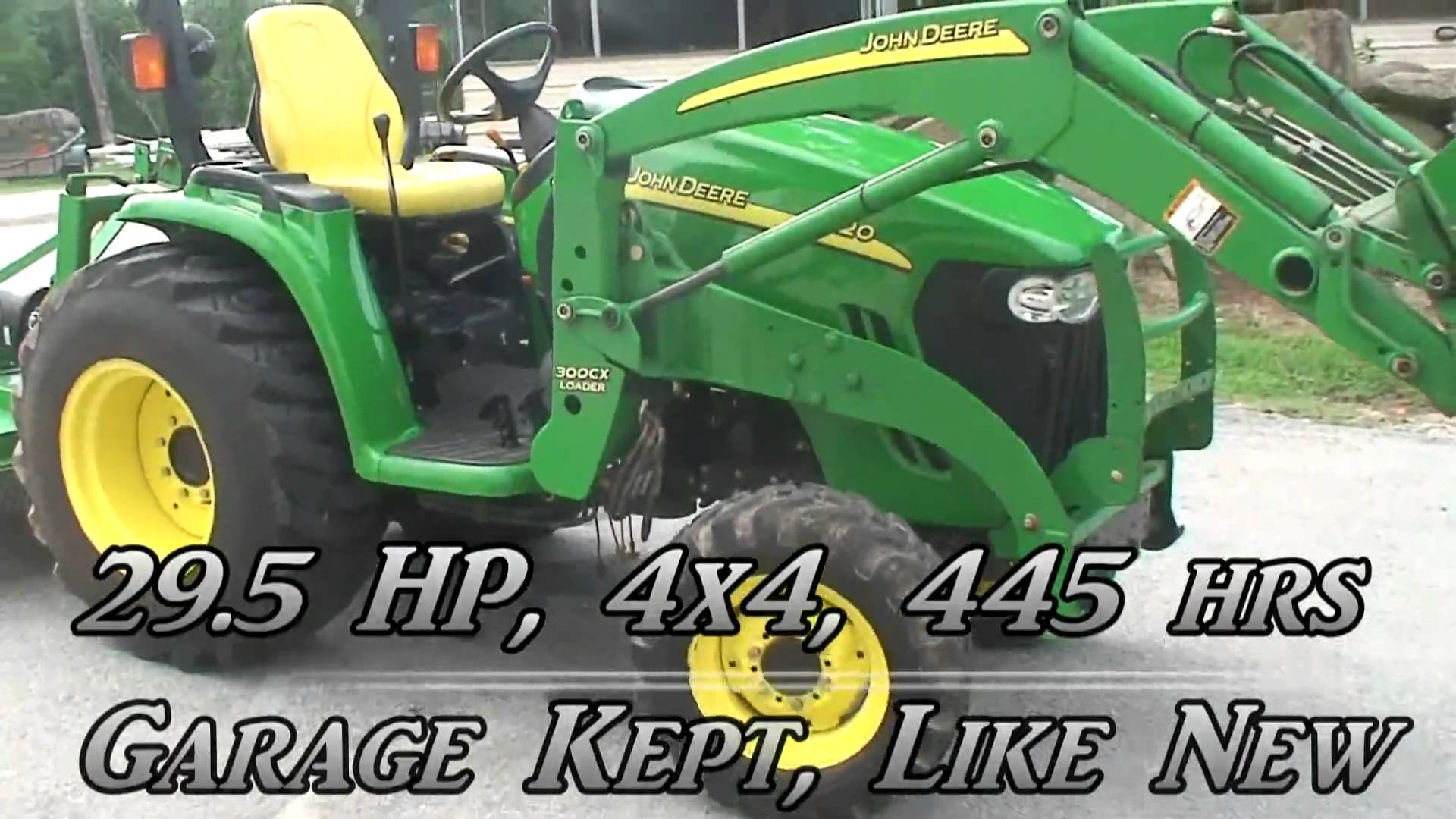 John Deere 3120 utility tractor with 4wd, hydro transmission, and ...