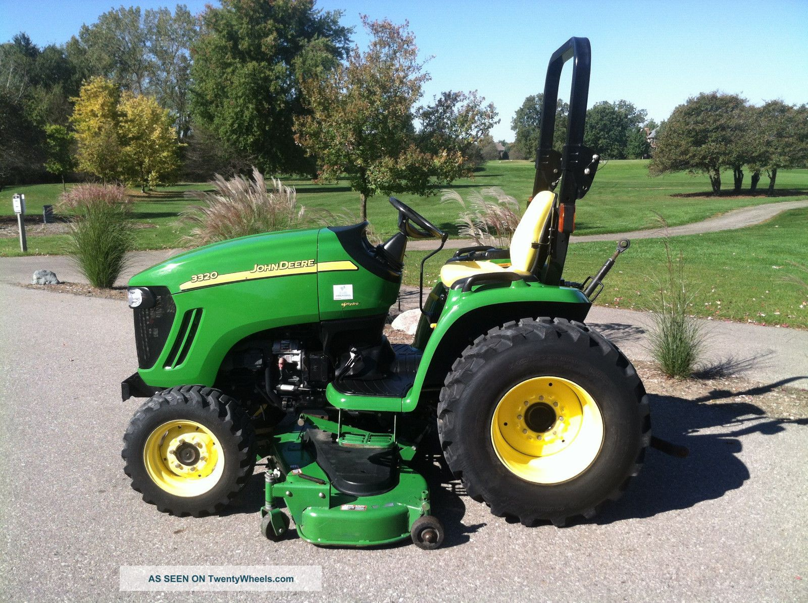 2007 John Deere 3320 Compact Utility Tractor, 72 Deck, 3pt, Mid & Rear ...