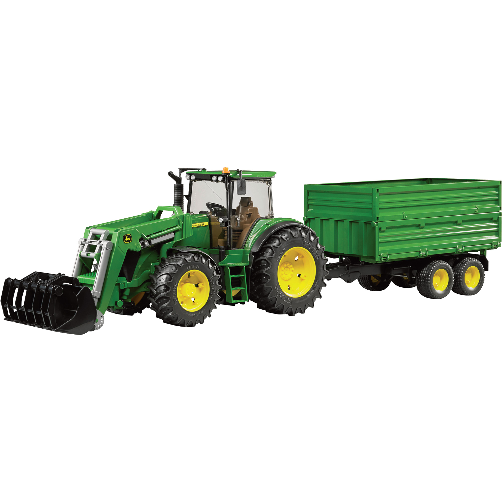 Bruder John Deere 7930 with Front Loader and Tandem Axle Tipping ...