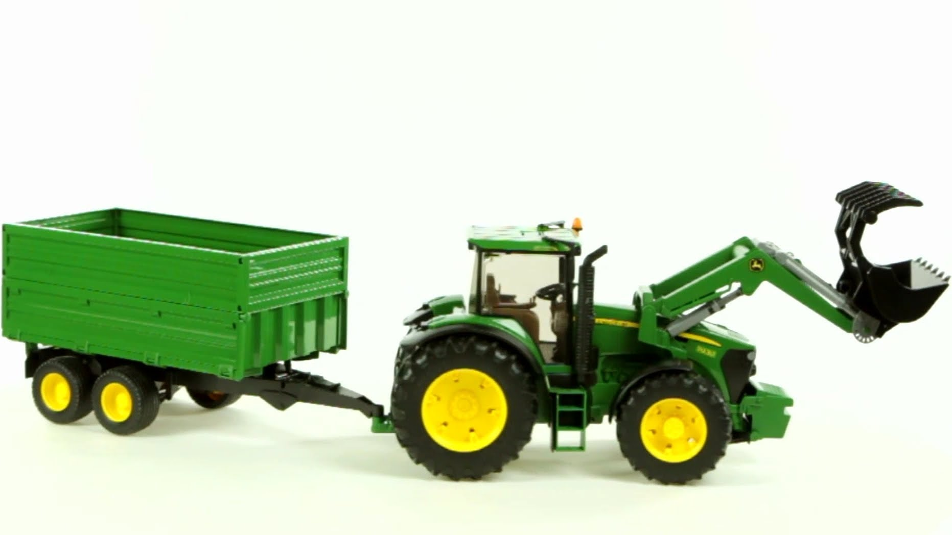 John Deere 7930 Tractor and Tandem Axle Tipping Trailer (Bruder 03055 ...
