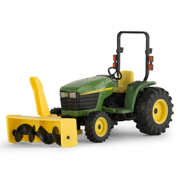 John Deere 1:16 scale 4310 Compact Utility Tractor with Snowblower Toy ...