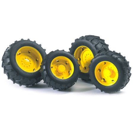 Twin Tires (Yellow Rims) for John Deere Tractor 6920 by Bruder (02321 ...