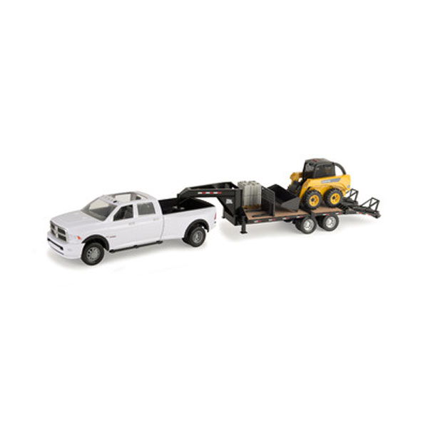 John Deere 1:16 scale Big Farm Truck with Trailer and Skid Steer ...