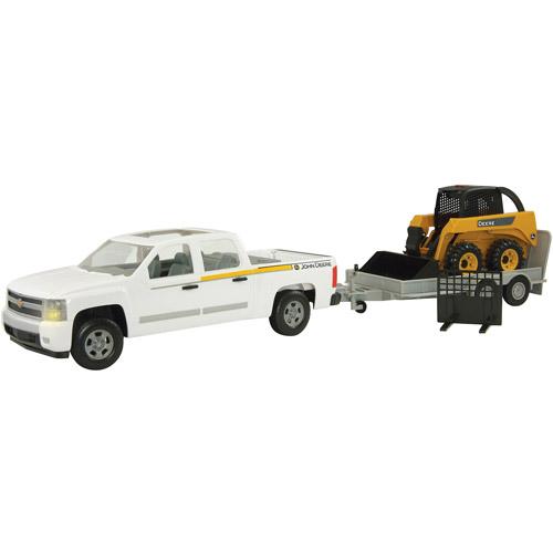 John Deere 1/16 Scale Big Farm Pickup with Skidsteer and Flatbed ...