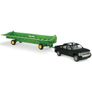 Details about John Deere 1/16 Big Farm Truck & Cornhead Plastic Ertl ...