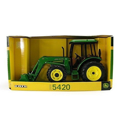 ... Ertl John Deere 5420 Tractor With Cab And Loader, 1:16 Scale for sale