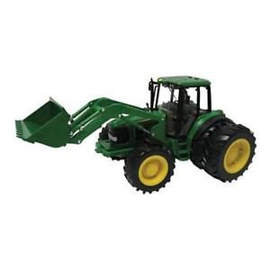 Tomy-42425-John-Deere-6830S-Tractor-Dual-Wheels-And-Bucket-With-Lights ...