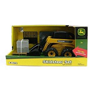 Amazon.com: John Deere Big Farm Skidsteer Set: Toys & Games