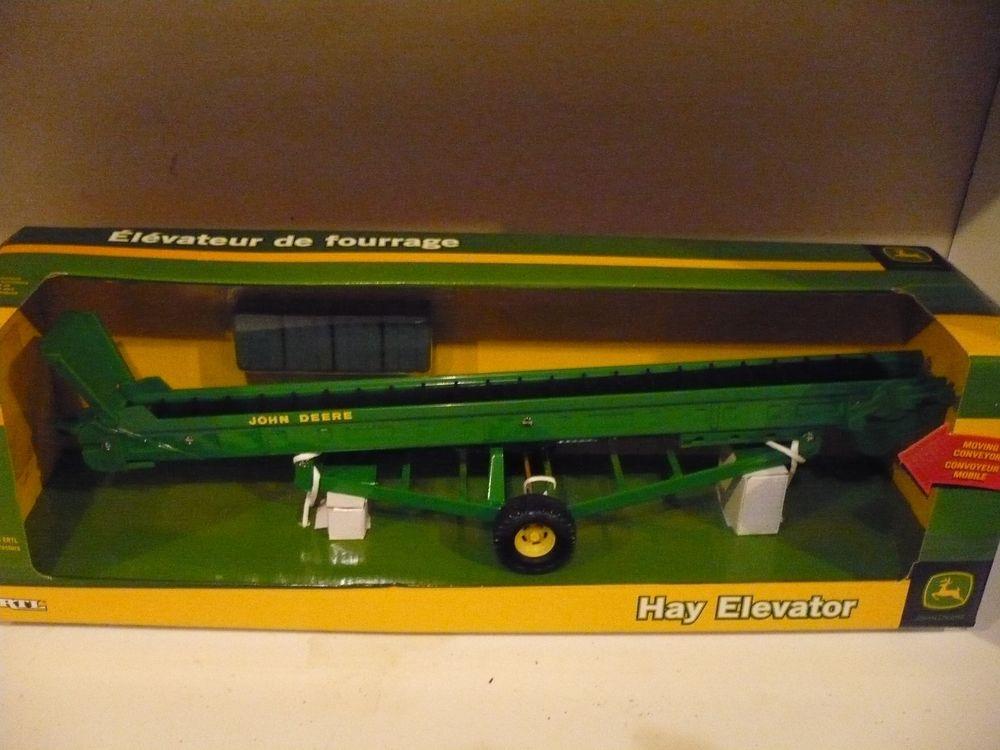 JOHN DEERE HAY BALE ELEVATOR FOR A TRACTOR 1/16 JD MIB ERTL | eBay
