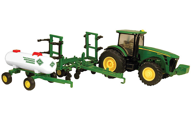 John Deere 8320R tractor with NH3 applicator and anhydrous wagon ...