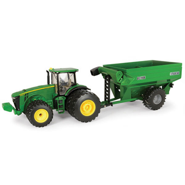 John Deere 1:32 scale 8260R Tractor with Grain Cart Toy - 45482
