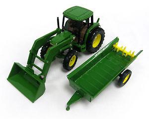 John Deere - 6210 Farm Tractor w/ Loader & Spreader 1/32 15488P | eBay