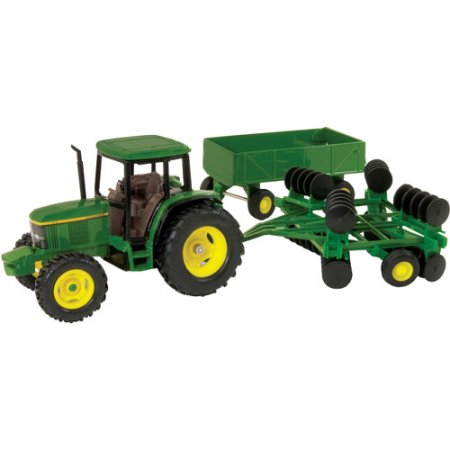 John Deere 1/32 Scale 6410 Tractor with Barge Wagon and Wing Disk ...
