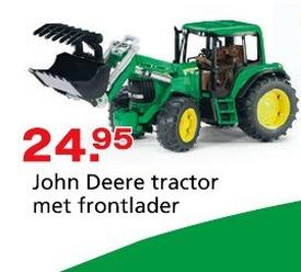 John deere tractor met frontlader - Bruder