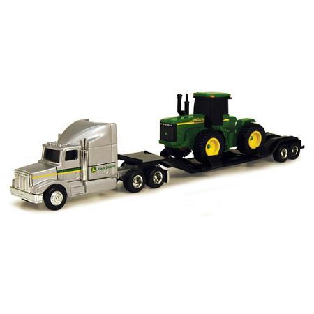 John Deere 1/64 Farm Hauler Semi with 4WD Tractor Play Set - Walmart ...