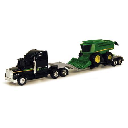 John Deere 1/64 Farm Hauler Semi with Combine Play Set - Walmart.com