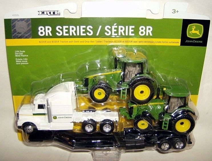 ertl 1/64 JOHN DEERE 8R SERIES TRACTORS w/ SEMI HAULER TRUCK | eBay