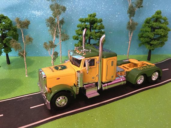 John Deere, 1/64, DCP, Peterbilt model 379 tractor truck, 36