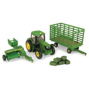 Details about John Deere 1/64 Scale 6210 Tractor Baler & Wagon Diecast ...