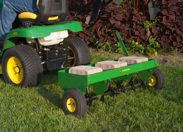 ... inch Plug Aerator | Lawn Care | Ride-on Mower Attachments | John Deere